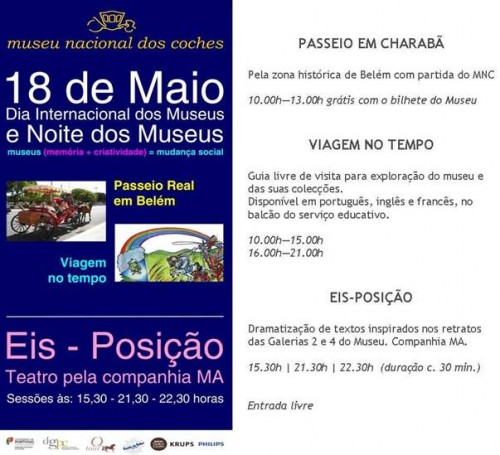 Dia Internacional do Museus, no Museu dos Coches